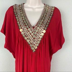 NWT Naeem Khan Timeless Red Grecian Drape Dress